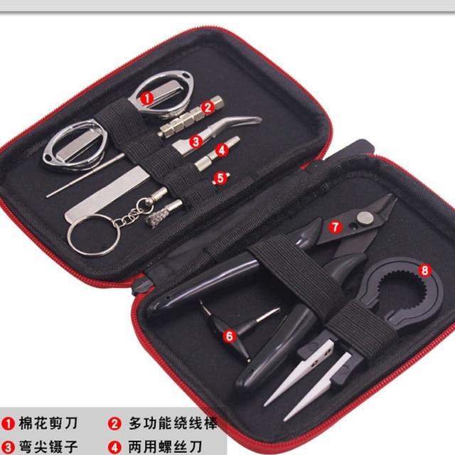 SAMOTECH Mini Coil DIY Kit Bag Vape Tools Master DIY Kit Meter Pliers For RDA RTA Atomizer Rebuild Tank E Cigarettte