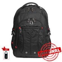 Mochilas impermeables para hombre, mochila para ordenador portátil de nailon, mochilas escolares de gran capacidad, bolsas de viaje para estudiantes SW8110I