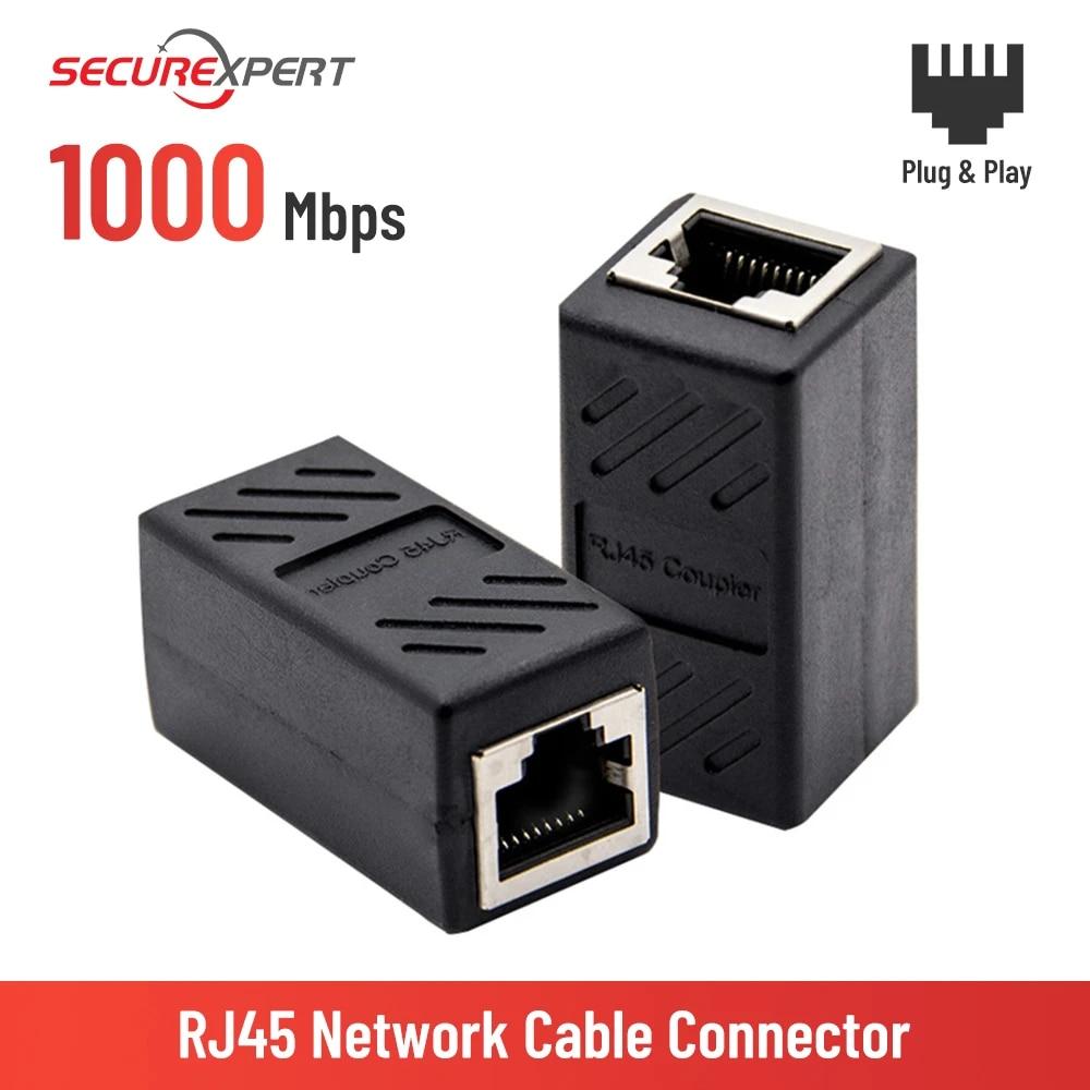 RJ45 connector Network extender Ethernet Kabel RJ45 extender adapter Gigabit interface Female to Female network connector