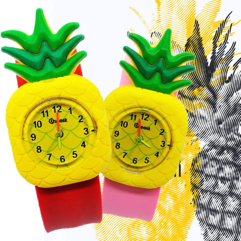 Fruit Variety Ananas Or Strawberry Children Quartz Watch Students Clock Sports Kids Wrist Watches Boys Girls Gift Children Watch