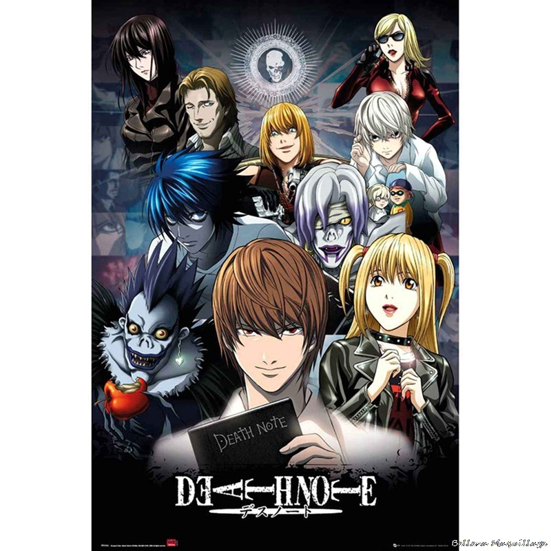 Japanese Anime Death Note Classic Anime Poster Art Home Decoration Wall Poster Print Silk Fabric 2021 NEW