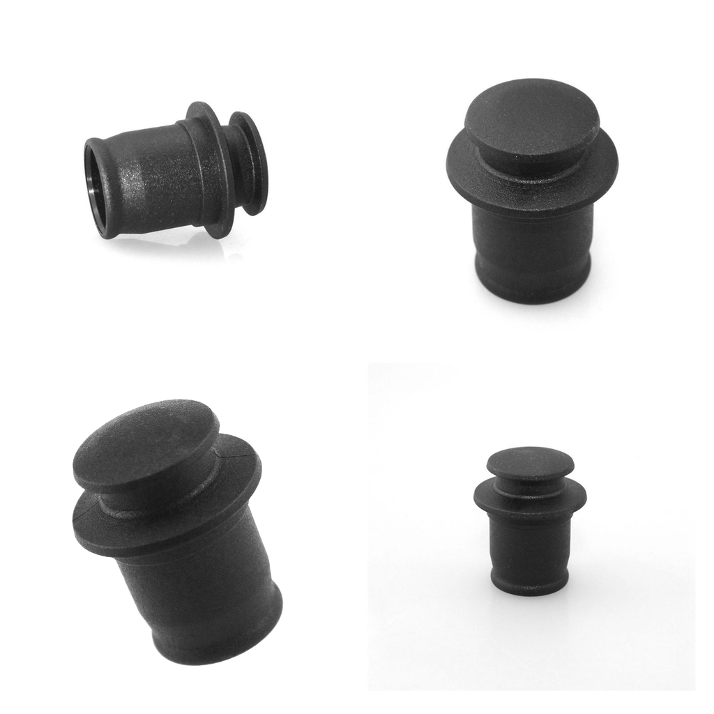 4pcs Dustproof Plug For Car Automobile Lighter Socket Dust Cap Black