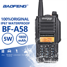 Buy Baofeng BF-A58 Walkie Talkie IP67 Waterproof UHF VHF Radio Dual Band A58 Two Way Radio Transceiver Woki Toki Baofeng UV-9R Plus directly from merchant!