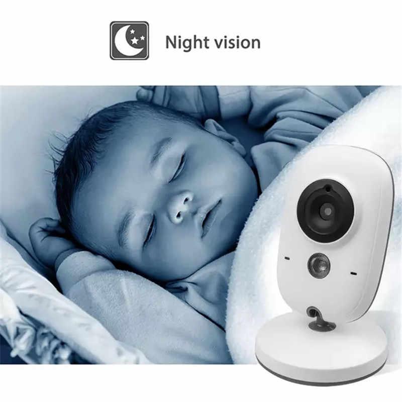 Беспроводной цветной видеоняня 3,2 дюймов с высоким разрешением, Детская няня, камера безопасности, ночное видение, контроль температуры