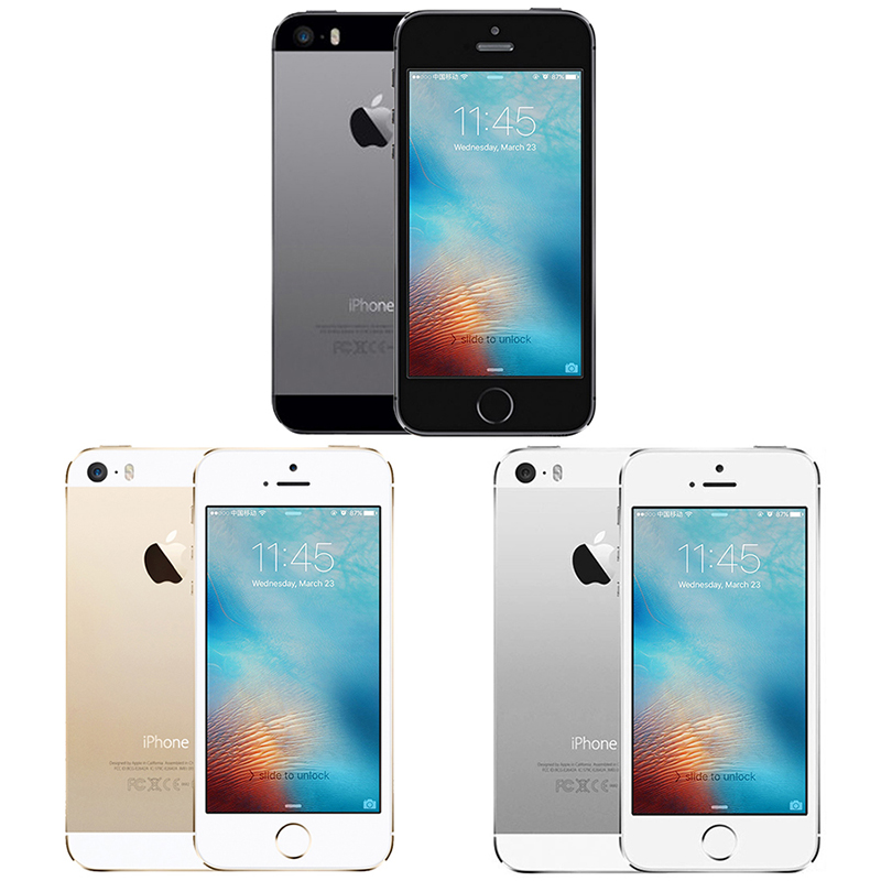 "Apple iphone 5S iphone5s 16/32/64gb rom, modelo shipm de ue local, ios, câmera de 8mp, 4.0 celular ""ips 8mp wifi gps 4g lte 2"