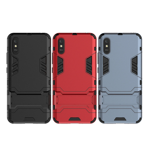 Image 5 - For Case Xiaomi Redmi 9A Cover For Redmi 9A Rubber + Hard Plastic Kickstand Back Cover For Xiaomi Redmi 7 8 9 6A 7A 8A 9A Fundas