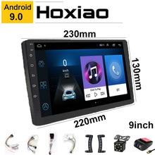 """Autoradio 9/10 """", Android 9, navigation GPS, BT, DAB, FM, USB, wifi, 2 DIN, 1 go de RAM, 16 go de ROM, lecteur multimédia, sans dvd, pour voiture"""