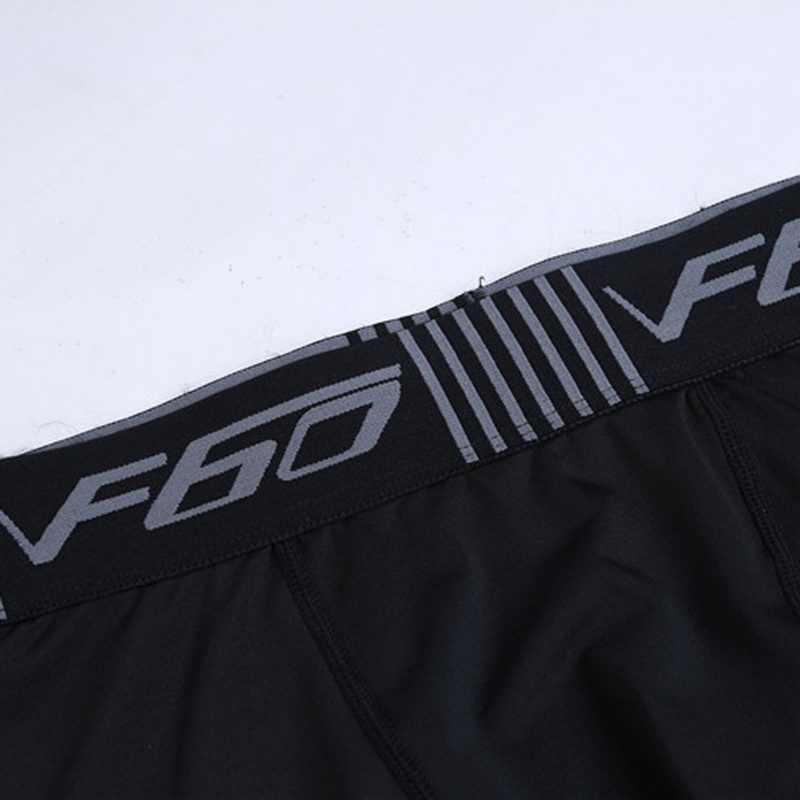 Gym Pria Kurus Celana Fashion Huruf Cetak Sport Celana Panjang Pinggang Elastis Kausal Binaraga Pakaian Olah Raga Lari Bernapas Legging