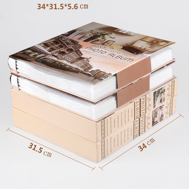 New Family Photo Album 6 Inch 480 Pockets 8 Inch Albums Retro  Insert Page Box 4R Photo Album Mixed Travel Family Memory RecordPhoto  Albums