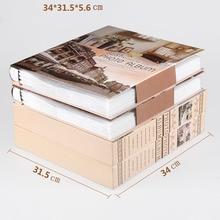 Nouvel Album Photo familial 6 pouces 480 pochettes 8 pouces Albums rétro insérer Page boîte 4R Album Photo mixte voyage famille mémoire Record