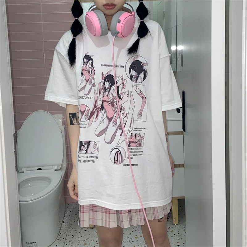 High Street Ladies Fashion Tshirt Girls Lovely Students School Kawaii White New Women Streetwear Printed Girls Sweatshirt