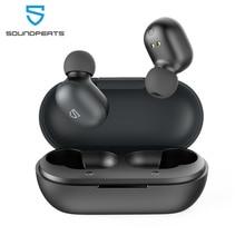 Auriculares inalámbricos SoundPEATS True, Auriculares Bluetooth 5,0 con controladores mejorados de 7,2mm, Control táctil integrado Mic15 horas de reproducción