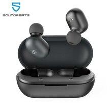 Fones de ouvido sem fio verdadeiros de soundpeats, fone de ouvido de bluetooth 5.0 com controle avançado do toque dos motoristas de 7.2mm construído em mic15 horas playtime
