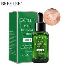 El suero de refinación de poros BREYLEE aprieta el refinamiento hidratante blanqueamiento en esencia Anti-envejecimiento Control de aceite esencia para el rostro cuidado de la piel