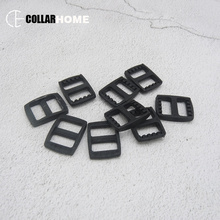 20 Pcs 3/8 Inch (15mm) Black Plastic Tri-Glides Adjust Buckles for Cat Dog Collar Backpack Straps Environment-friendly