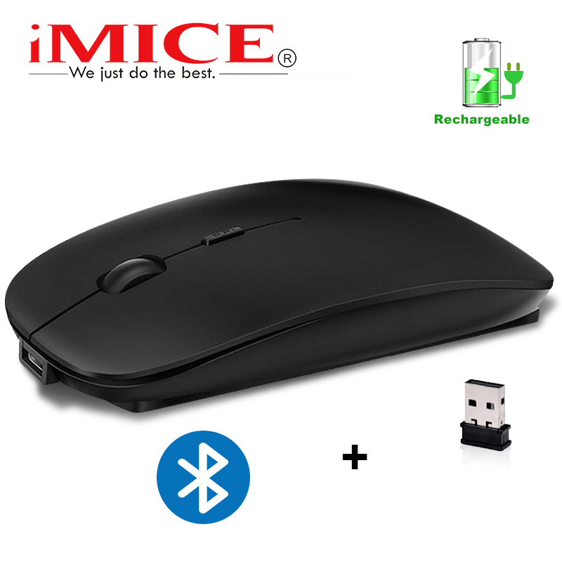 Wireless Mouse Silent Bluetooth Mouse Wireless Computer Mouse Rechargeable USB Mause Ergonomic Mice Noiseless For PC Laptop Mute