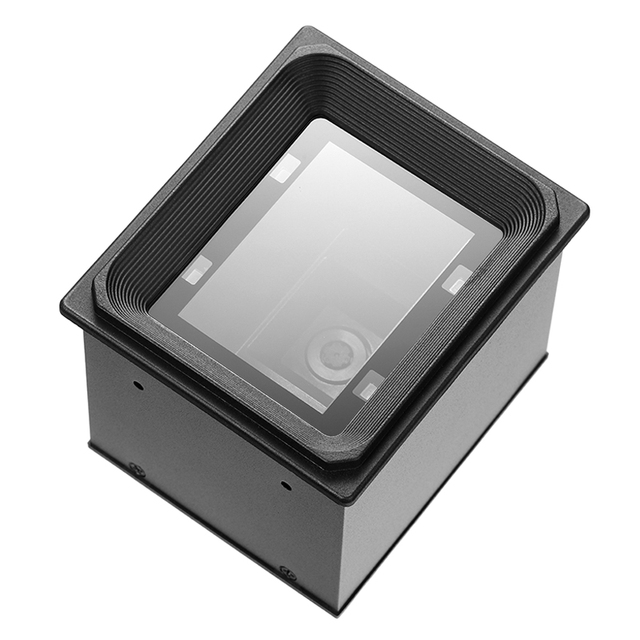 Yüksek kaliteli 2D/QR/1D sabit montaj tarayıcı Wiegand RS485 USB RS232 için kiosk erişim kontrolü turnike park yeri