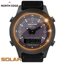 NORTH EDGE Men Solar Digital Watch Men