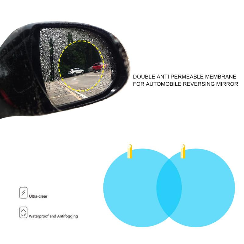 1Lot/2pcs Car Rearview Mirror Protective Film Anti Fog Rainproof Rear View Mirror Protective 80mm*80mm Nano Hydrophilic Stickers