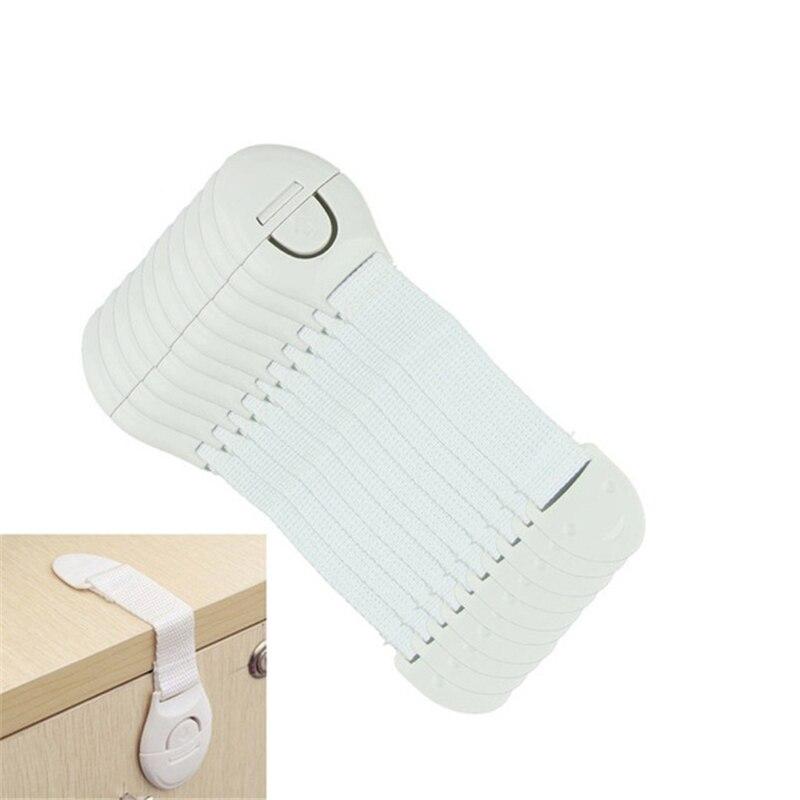 5Pcs//lot cabinet door drawers refrigerator toilet safety locks for kids baby UK