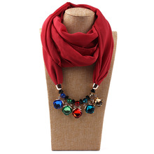 Bohemia Multi-style Jewelry Statement Necklace Pendant Scarf Women Neckerchief Foulard Femme Accessories Hijab Stores