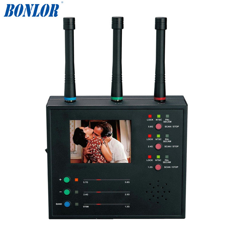Professional Wireless Camera Hunter Monitor Display Detect Multiple Wireless Camera Lens Finder Camera Scanner Video Scanner