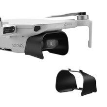 Lens kapağı güneşlik koruyucu bone DJI Mavic Mini Lens Hood parlama önleyici Gimbal kamera Guard Mavic Mini 2 aksesuarları