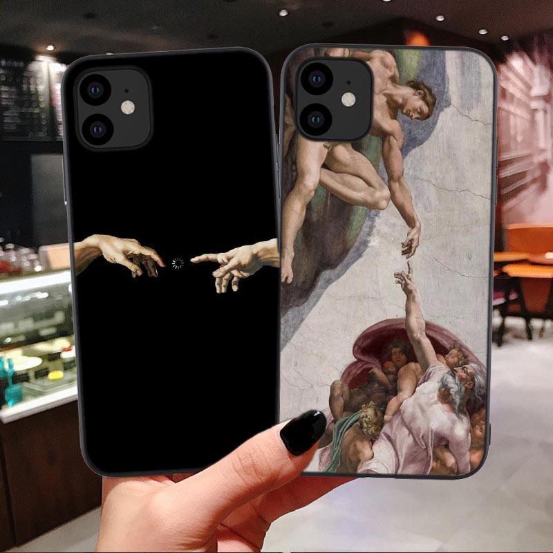 Michelangelo The Creation Of Adam Art Soft Case For Iphone 11 Pro MAX Paradise Angel Cover For Iphone X XR Xs Max 6 6S 7 8 Plus