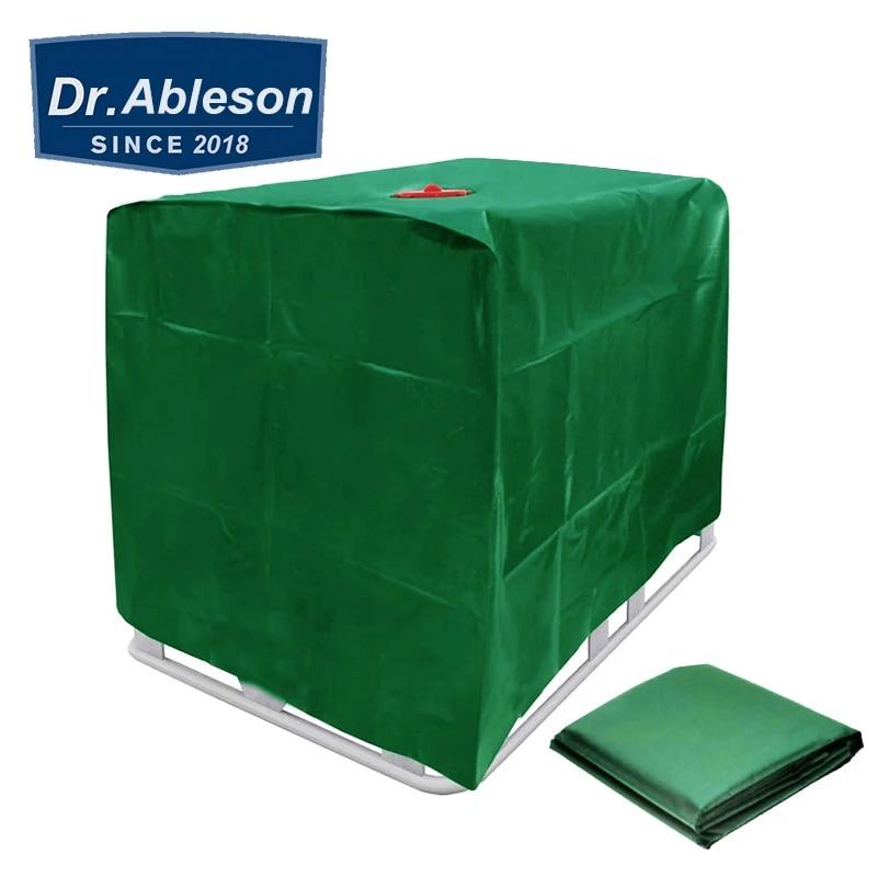 Green 1000 litros IBC Tanque DE Agua Cubierta DE Polvo Abajo Muebles DE Jardin DE Abajo A Prueba de Agua Polvo a Prueba de Viento Protecci/ón de Nieve con cord/ón tama/ño: 120x100x116cm