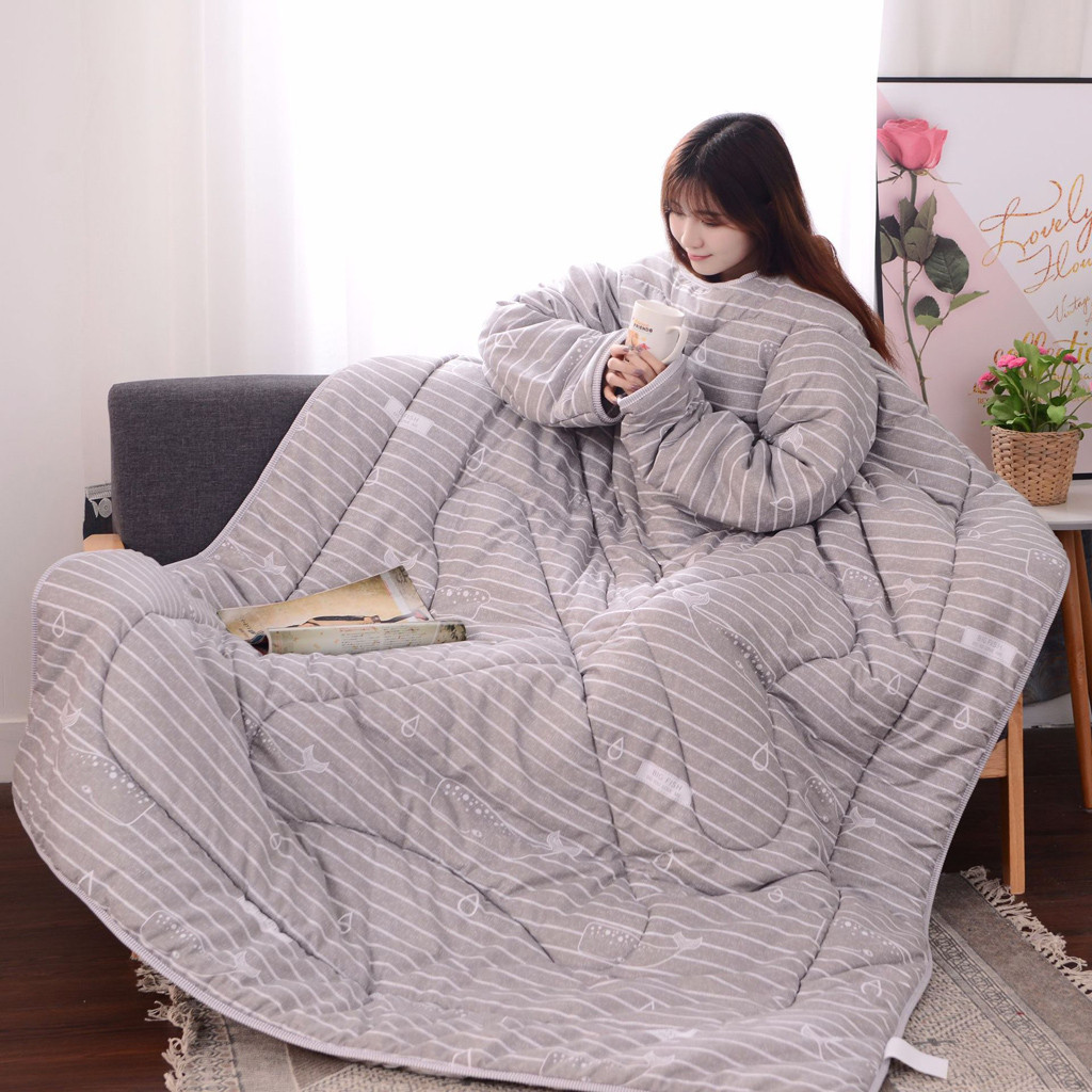Winter Comforter Autumn Lazy Quilt With Sleeves Family Blanket Cape Cloak Nap Blanket Dormitory Mantle Covered Blanket 4 Styles Distinctive For Its Traditional Properties