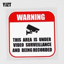 YJZT 10.2CM × 10.2CM uyarı 24 saat Video gözetim çıkartması PVC araba Sticker 12C-0012