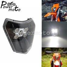 For EXC Enduro xcw xc sx-f xc-w Six Days 125-450 690 LED Head Lamp Lighting E8 Motocross LED Hi/Lo Beam Headlight