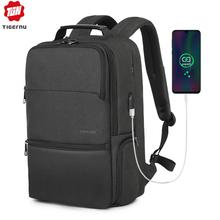 Tigernu New Man Backpack Waterproof Anti Theif Bagpack USB Recharging Multi layer Space Male Bag RFID Lining Travel Backpack