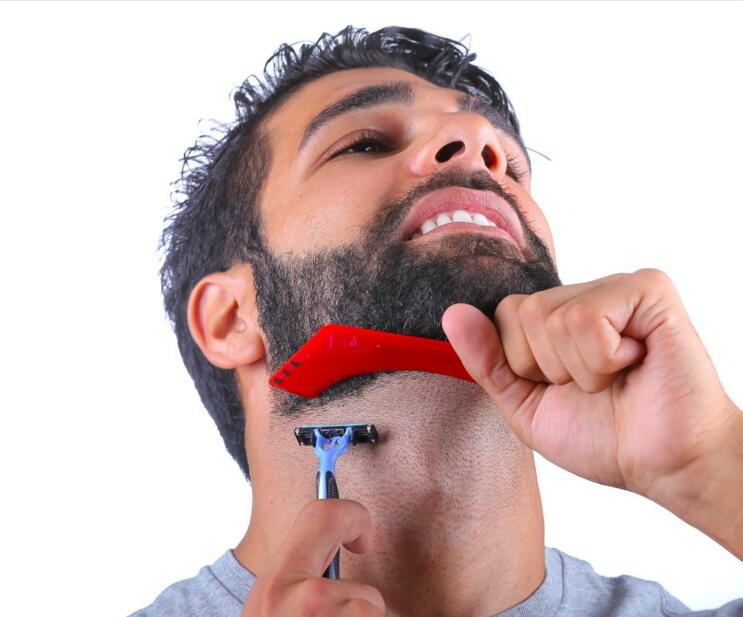 Хорошее качество Z форма борода shaper усы sidebums гребень для укладки бороды шаблон как инструмент для формирования волос на лице Прямая поставка