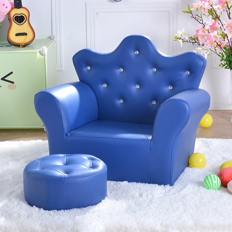 Children's Sofa Lovely Crown Baby Sofa Environmental Belt Stool Mini Princess Baby Sofa Special Price
