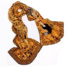 46 disegni 2019 Van Gogh della Pittura A Olio Sciarpa di Seta Delle Donne e Degli Uomini Sciarpa di Seta Reale di 100%, Sciarpe Donna di Lusso Del Progettista sciarpe