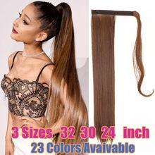 Peruca natural falsa das extensões do rabo de cavalo do cabelo 32