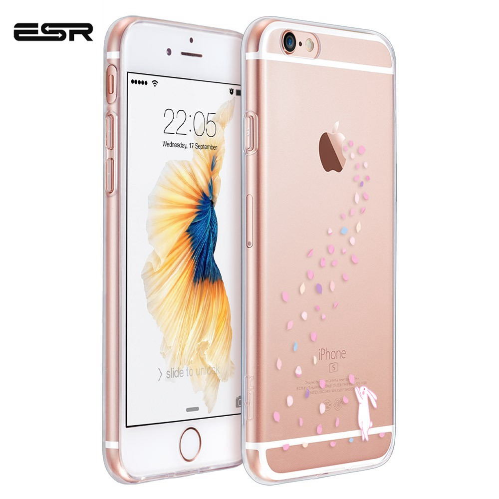 ESR Cartoon Case For 6/7/8 6S 7/8 Plus Cute Transparent Cover Clear Soft TPU Case Ultra Thin Cover Anti-Knock Coque IPhone8 Case