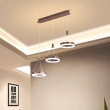 Apextech Simple Modern LED Pendant Lights Hanging Lamp Living Dining Room Kitchen Bar Restaurant Lighting Fixture Light pendant lights led lamp modern hanglamp aluminum remote control dimming hanging lighting fixture living room kitchen restaurant