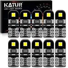 10 sztuk T10 W5W LED żarówka Canbus dla Peugeot 206 207 307 407 308 3008 508 308 2008 bezawaryjna samochodowa żarówki do wewnętrznych lamp samochodowych lampka do czytania
