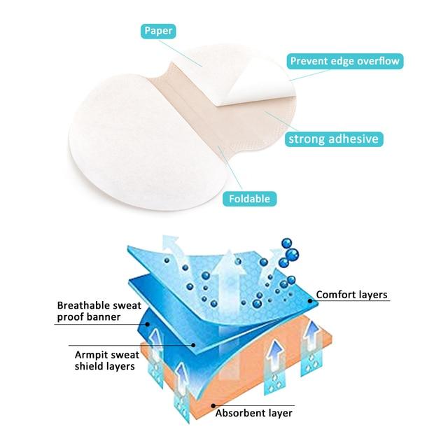 10/20/30/50pcs Underarm Dress Clothing Armpit Care Sweat Scent Perspiration Pad Shield Absorbing Deodorant Antiperspirant 2