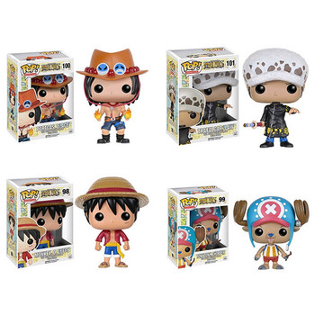 FUNKO POP Anime ONE PIECE Luffy Chopper ACE LAW FRANKY Action Figure Toys Decoration Models Collections for Kids Christmas Gifts 1
