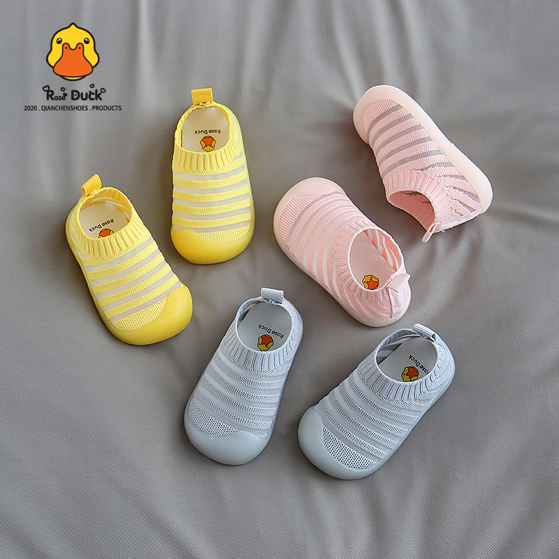 2020 Summer Baby Shoes Rase Duck Net Shoes Soft Bottom Breathable Toddler Shoes