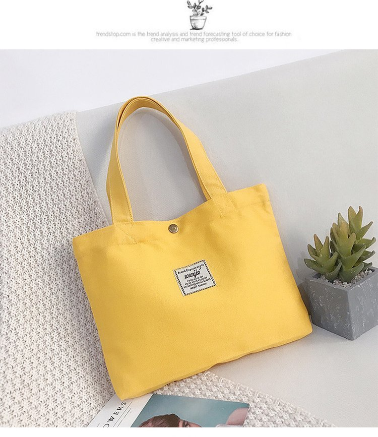 Cute One Shoulder Small Tote Bag Canvas Bag Storage Bag Storage Bag Shopping Bag