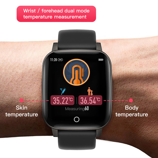 Sports Fitness Temperature Measurement Wristband Smart Watch For Android And iOS 2020 Pedometer Men Women Smartwatch 2