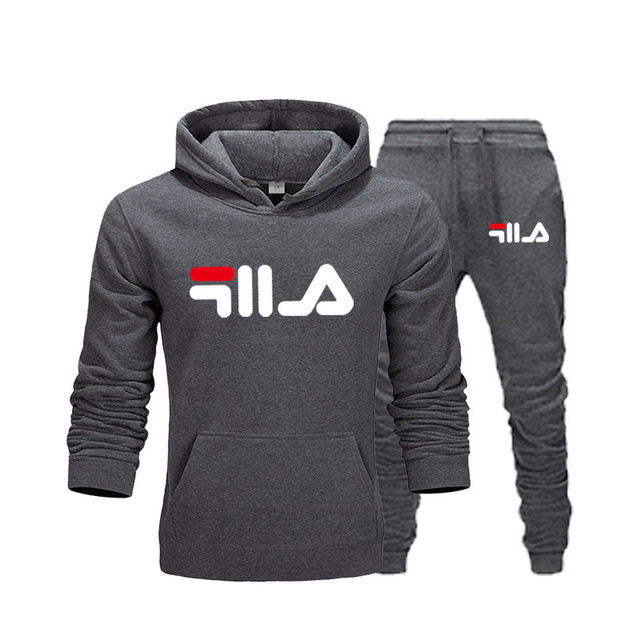 New Brand Clothing Men's Pullovers Sweater Cotton Men Tracksuits Hoodie Two Pieces + Pants Sports Shirts Fall Winter Track suit 3