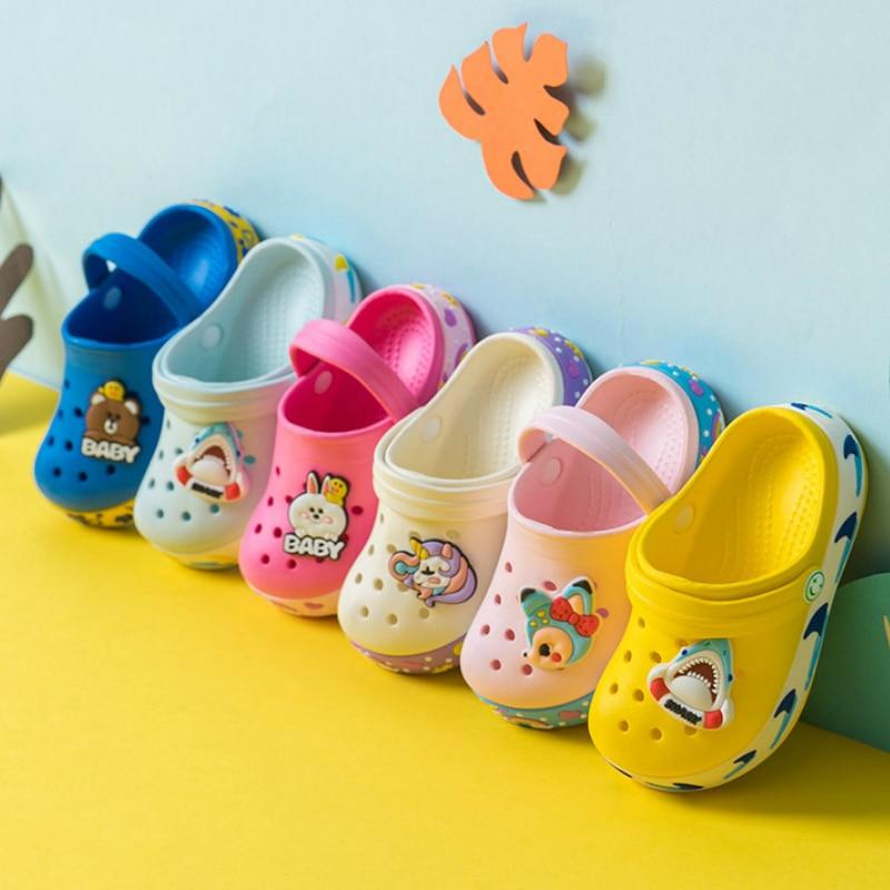 2020 New Baby Girl Cartoon Slipper Toddler Beach Garden Shoe Kids Boy Cave Shoes For Children Summer Indoor Cute Sandals