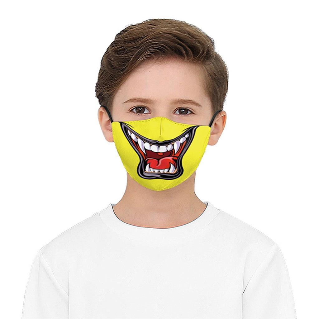 H61e81af825384f55a09501b79b58dfc3N Kawaii Maska Kids Boys Girls Facemask birthday Party facemask Washed Reusable Maska Camping Travel