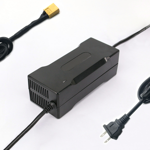 Image 5 - YZPOWER cargador de batería de litio de 42V 3A para patinete eléctrico li poly de 36V 3A, paquete de batería de bicicleta eléctrica con LED y ventilador