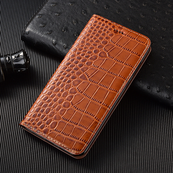 Crocodile Genuine Leather phone Case For ASUS ZenFone 5 2018 ZE620KL Lite ZC600KL 5Z ZS620KL Max Plus M1 ZB570TL Flip Cover bags